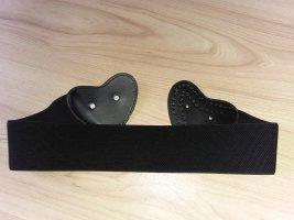 Cinturón pélvico negro-color plata tejido mezclado