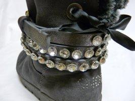 Studded Belt dark grey polyurethane