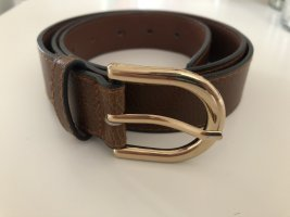H&M Faux Leather Belt cognac-coloured
