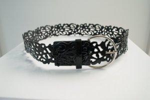 Xanaka Faux Leather Belt black imitation leather