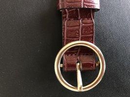 H&M Cinturón de cuero de imitación carmín-burdeos