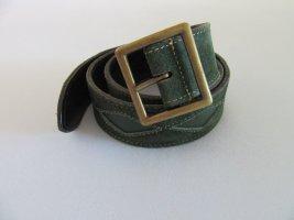 Jake*s Cintura di pelle verde bosco Pelle