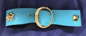 Christian Lacroix Waist Belt turquoise-gold-colored