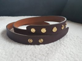 Ralph Lauren Faux Leather Belt purple-bordeaux