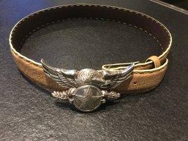 Leather Belt camel-cream leather