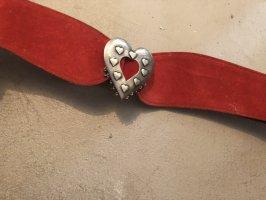 Cinturón de cuero de imitación rojo oscuro