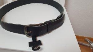 Gürtel Leder Schwarz 105 cm