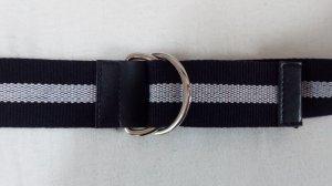 Unbekannte Marke Canvas Belt white-dark blue