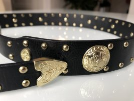 Faux Leather Belt black-sand brown