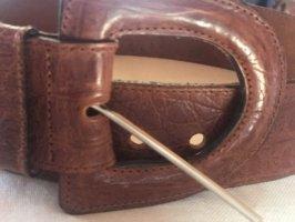 0039 Italy Cinturón de cuero marrón Cuero