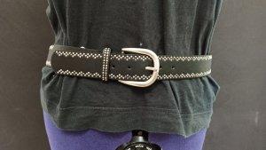 Cinturón de pinchos negro-blanco Poliuretano