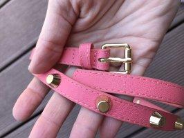 H&M Cinturón de pinchos salmón
