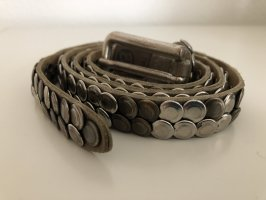 Studded Belt grey brown-taupe