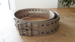 Hallhuber Cintura borchiata marrone-grigio-sabbia Poliuretano