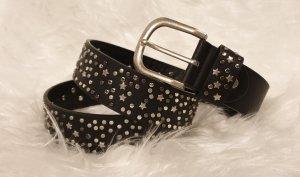 Studded Belt black-silver-colored