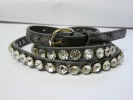 Studded Belt dark grey polypropylene