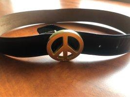 Moschino Leather Belt black