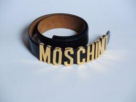 Moschino Leather Belt dark blue leather