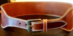 René Lezard Leather Belt brown