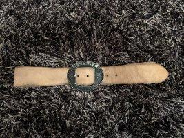 Replay Leather Belt beige
