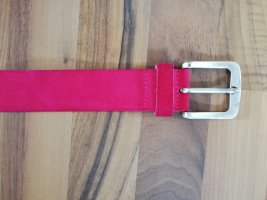 s. Oliver (QS designed) Leather Belt raspberry-red