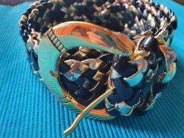 Braided Belt black-gold-colored