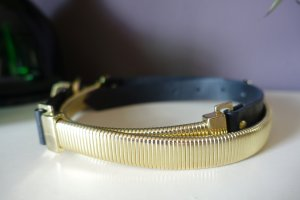 H&M Chain Belt black-gold-colored mixture fibre