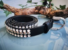 Only Studded Belt black-silver-colored mixture fibre