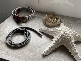 Cinturón de tela color plata-color bronce