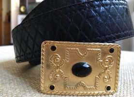 Gürtel True Vintage Schwarz Gold
