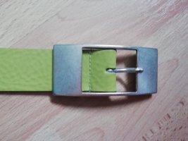 Bernd Götz Cinturón de cuero verde pradera-verde Cuero