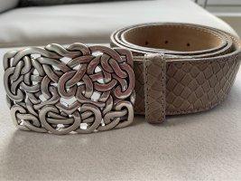 Vera Pelle Leather Belt grey brown