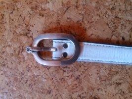Etienne Aigner Cinturón de cuero blanco-negro