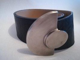BricCinO Leather Belt black-silver-colored
