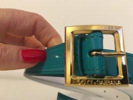 Dolce & Gabbana Cintura di pelle turchese