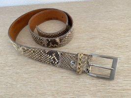 Enrico Pucci Cintura di pelle multicolore Pelle