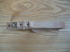 Hilfiger Belt Buckle sand brown leather