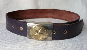 Cinturón de cuero lila Cuero