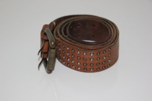 Liebeskind Berlin Leather Belt cognac-coloured