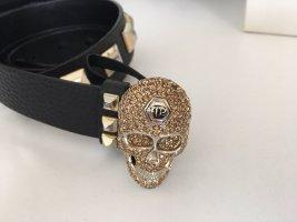 Philipp Plein Cinturón de cuero negro