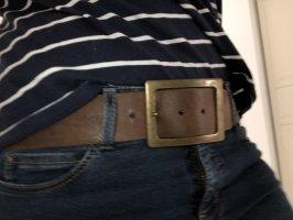 Pieces Faux Leather Belt light brown