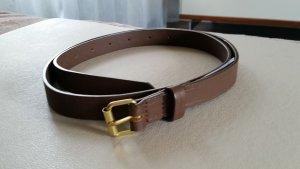 Zara Cinturón de cuero de imitación marrón grisáceo