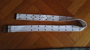 Cintura in tessuto bianco