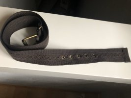 Cintura in tessuto marrone