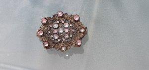 Fibbia per cinture argento-rosa pallido Tessuto misto