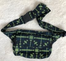 Bumbag dark blue-lime-green cotton