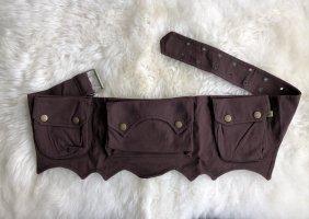 Ohne Bumbag dark brown-brown cotton