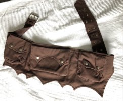 Bumbag dark brown cotton