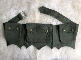 Ohne Bumbag dark green cotton