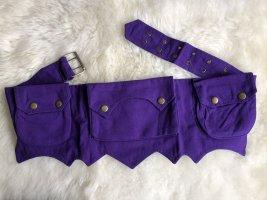 Ohne Bumbag dark violet cotton